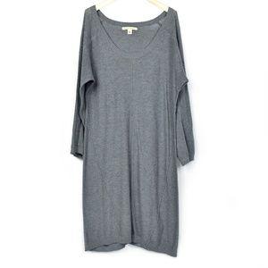 Banana Republic Gray Sweater Dress 3/4 Sleeve Sm